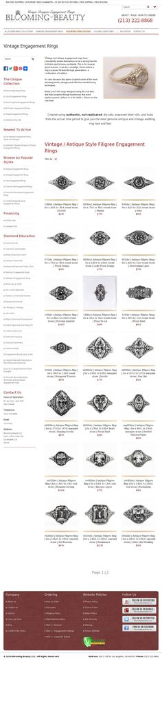 http://www.bloomingbeautyring.com/vintage-and-antique-filigree-rings-and-jewelry/vintage-engagement-rings/ #AntiqueEngagementRings #FiligreeEngagementRings #VintageEngagementRings #UniqueEngagementRings
