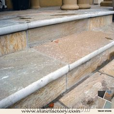 golden quartzite step stone