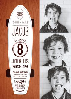 birthday party invitations - SK8 by robin ott design