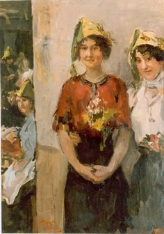 'Isaac' Lazarus Israels (Amsterdam 1865-1934 Den Haag) Studentenfeest - Kunsthandel Simonis en Buunk, Ede (Nederland).