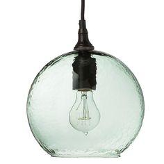 New Artisan Glass Ball Pendant Ancient Aqua Globe Pendant, Glass Globe, Mercury Glass, Glass Ball, Glass Pendants, Glass Shades, Lamp Light, Clear Glass, Pendant Lighting
