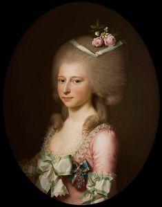 1784 Luise Auguste von Augustenburg met de Orde van Christiaan VII by Jens Juel (location unknown to gogm) | Grand Ladies | gogm