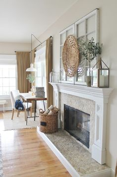 "Look at the stones on the fireplace steip. I love that it adds a bit of ""rustic"" to the design!"