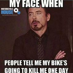Who agrees?! haha it happens every time! - uploaded by #MotorcycleHouse
