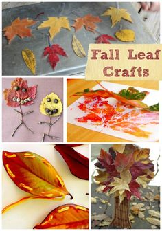 Beautiful fall leaf crafts for kids to make this year!