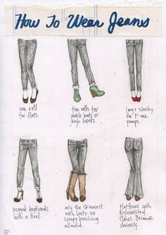 Dilemma on how to wear jeans with different styles of shoes: solved!