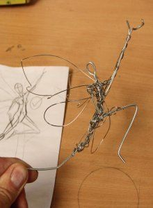 Fantasy Wire Fairies Sculptures (links to show inside structures)