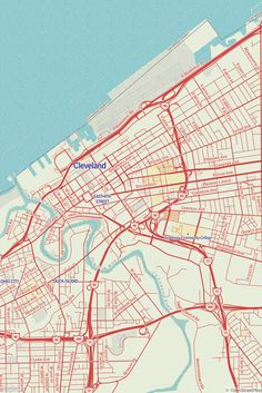 Standard by Saman Bemel Benrud - A map inspired by early 20th century Standard Oil Company road maps #maps #MapboxStudio