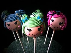 cake pops. My nieces would love these!  But I would not make them look like anime.  I would make them look more like dolls.