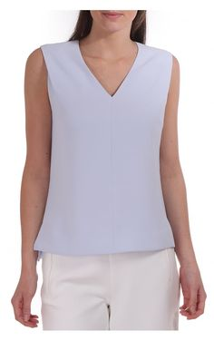 cdf28f93d66443 Ted Baker Womens Dexi Shoulder Tuck Top In Crepe Pale Blue Ted Baker  Womens