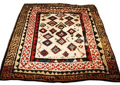 Oriental Rugs: A Zakatale rug Gendje region  ZAKATALE RUG  Origin: Central Caucasus, Gendje region, late 19th century  Size: approx. 180 x 149 cm