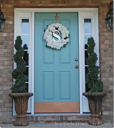 annie sloan duck egg blue | Annie Sloan's Duck Egg blue front door