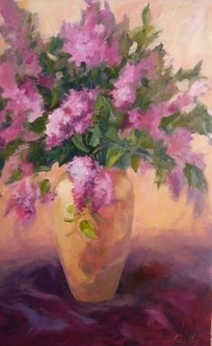 Celebrate the Lilac by Patricia Kness Oil ~ 32 x 20 Upcoming Events, Still Life, Lilac, Painters, Floral, Artist, Flowers, Artists, Syringa Vulgaris