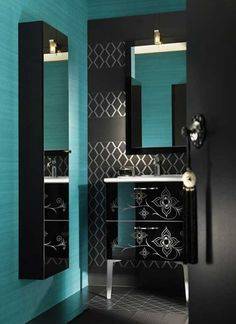 Teal Bathroom Decor Ideas Best Of Modern Moroccan Bathroom Furniture and Inspiration Unique 63 From Delpha Digsdigs Bad Inspiration, Bathroom Inspiration, Furniture Inspiration, Modern Bathroom Design, Bathroom Interior Design, Bathroom Designs, Interior Ideas, Turquoise Bathroom Decor, Bathroom Colors