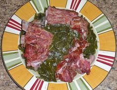 Shawna's Food and Recipe Blog: Collard Greens and Smoked Neck Bones ... Soul Food!  not pinning so much for the use of neck bones but as a remnder to use garlic in the greens along with onion, vinegar, red pepper.  Seem slike it would be a very flavorful broth