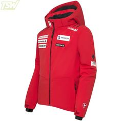 Descente Kids Swiss Alpine Team Jacket - Electric Red Team Jackets, Ski Racing, Ski Wear, Skiing, Kids, Ski, Young Children, Boys, Children