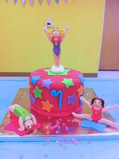 Cute gymnastics birthday cake for a little girl!