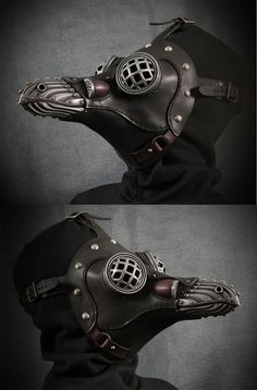Miasma with Eyecages Steampunk Plague Doctor Mask by TomBanwell