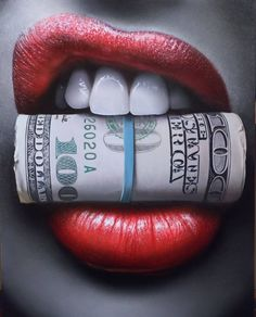 Put Your Money Where Your Mouth Is Canvas Print / Canvas Art by Peter Perlegas Chicano Tattoos, Chicano Art, Lip Art, Design Tattoo, Tattoo Designs, Arte Dope, Money Tattoo, Canvas Art, Canvas Prints