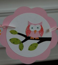Owl Birthday Banner by AnyGoodIdeas on Etsy, $20.00