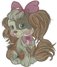 Cute English Cocker Spaniel machine embroidery design. Machine embroidery design. www.embroideres.com