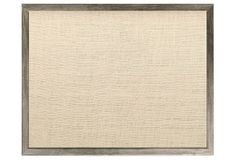 Gray Barnwood Bulletin Board, Oyster