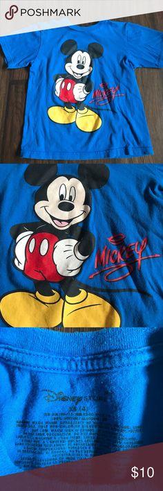 Boys XS Disney Mickey T-Shirt Boys XS (4) blue Disney Mickey Mouse tee Disney Shirts & Tops Tees - Short Sleeve