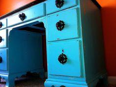 Refinished Desk Project -Craigslist find