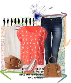 """Coral!"" by tballinger on Polyvore"