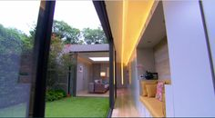 The 100K house - an innovative glass extension (window seat) http://www.bbc.co.uk/programmes/p03lx0kd