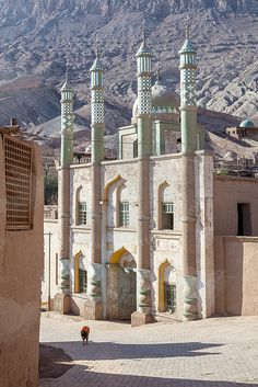 Islamic Minaret Village Of Toyuq Xinjiang China