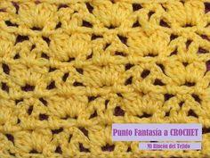 Cómo tejer punto fantasía a crochet - Mi Rincón del Tejido - YouTube