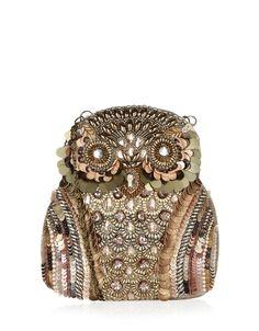 Ollie The Embellished Owl Bag