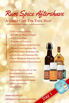 Today we are starting our Today we are doing a great man gift, Rum Spice Aftershave! Essential Oil For Men, Oils For Men, Clove Essential Oil, Cinnamon Essential Oil, Essential Oil Perfume, Orange Essential Oil, Best Essential Oils, Young Living Essential Oils, Kids Deodorant