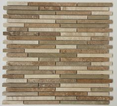 Marmor-Mosaik-Fliese-Staebchen-beige-28-6-x-29-5-x-0-8cm-Kueche-Bad-Mosaik-Platte