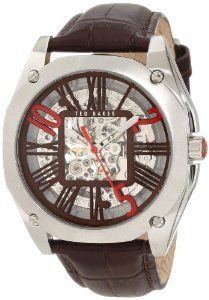 Ted Baker Men's TE1090 Time Flies Skeleton Case back Automatic Transparent Strap   refer.ly/aX0A