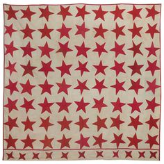 19th Century Summer Quilt   From a unique collection of antique and modern quilts at http://www.1stdibs.com/furniture/folk-art/quilts/