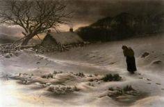 Winter (Restrike Etching) by Joseph Farquharson Art Print - WorldGallery.co.uk