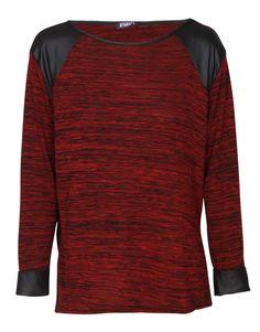 wet-look-detail-long-sleeve-melange-top-in-burgundy 25689 1