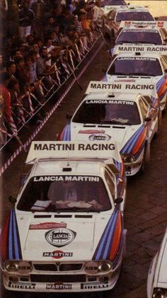 Lancia 037 pronte al via Rally Sanremo Martini Racing, Turin, Lancia Delta, Vintage Race Car, Rally Car, Amazing Cars, Fast Cars, Sport Cars, Cars And Motorcycles