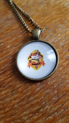 Rubble Paw Patrol Necklace by AwesomeOddities on Etsy