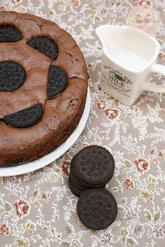 o cómo conseguir que 5 personas se coman (casi) 10 porciones! Oreo Brownies, Oreos, Sweet Life, Cupcake Cookies, Cakes And More, Bakery, Deserts, Sweets, Cooking