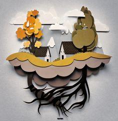 3D collage by Italian illustrator, Bombo! (aka Maurizio Santucci).