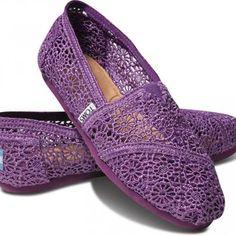 Toms Purple Crochet Women's Classics | TOMS.com