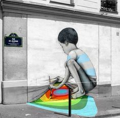 """Dope wall by Sethglobepainter in Paris. - """"Street art can darken or illuminate the mood of an ally, and of the people who walk by it."""""""