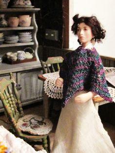 Hanna & Leijona: Virkkausta, neuletta ja muuta - Crocheting, knitting and Miniature Dolls, My Mom, Dresses With Sleeves, Knitting, Long Sleeve, Crocheting, Miniatures, Fashion, Gowns With Sleeves