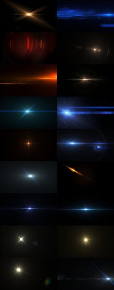 Lens Flares and Lights Texture