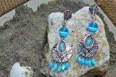 Bleu Turquoise ✿ Boucles d'oreilles : Boucles d'oreille par asta-en-bretagne