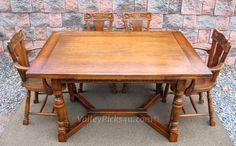 Vintage Jamestown New York Feudal Oak Dining Kitchen by picks4u, $945.00