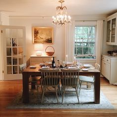 The dining room is one of the most important places in your home. You can have a good dining room th Sweet Home, Table Design, Home And Deco, Cozy House, My Dream Home, Interior Styling, Home Kitchens, Living Spaces, Dining Table